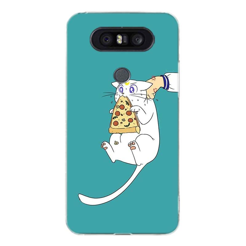 Sailor Moon Girl Art Couples Soft Silicon TPU Case for LG G6 V30 G4 G5 G7 Q6 Q7 Q8 V10 V20 V40 K8 K10 Art Customized Cases Cover in Half wrapped Cases from Cellphones Telecommunications
