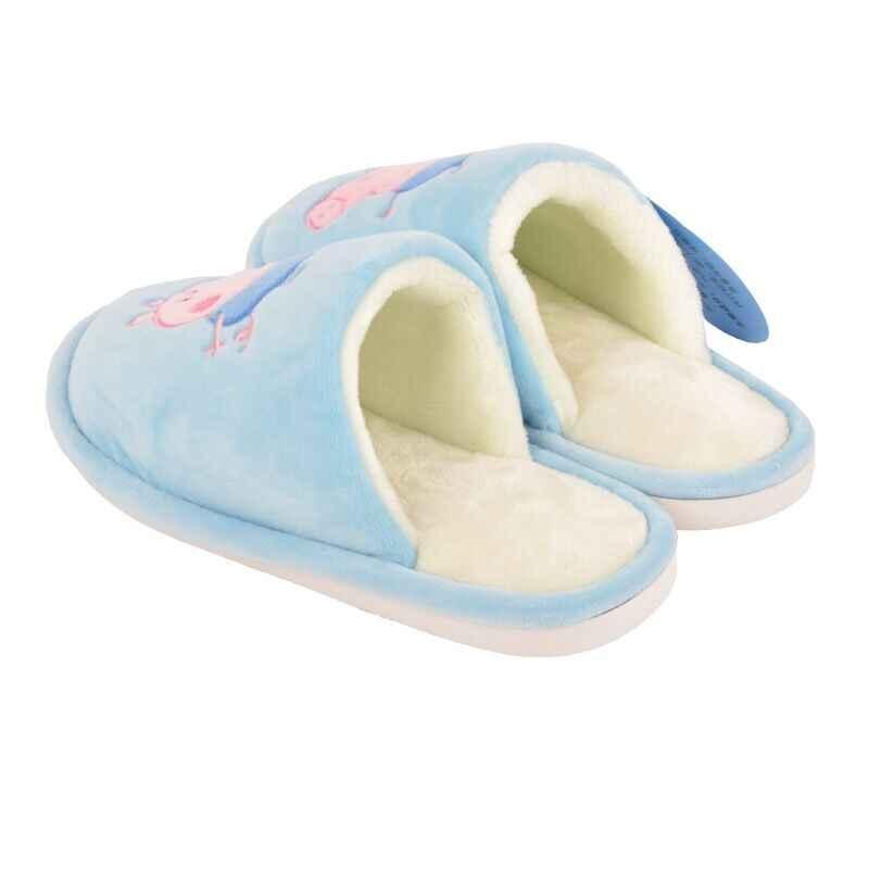2019 Genuíno de Alta Qualidade Peppa Pig George inverno Outono Quatro Estações Caricatura sapato chinelo Interior prova Slip-brinquedo de pelúcia boneca