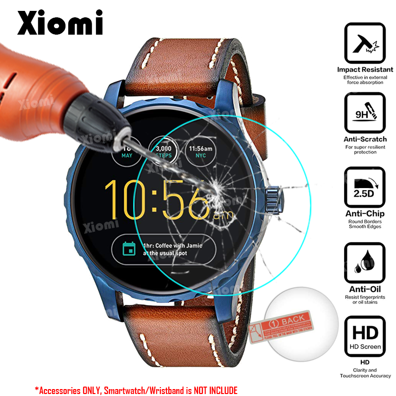 33e4876e553 For Smart Watch Fossil Gen 2 Smartwatch Q Marshal Tempered Glass Protective  Film Ultra Clear Guard Screen Protector Cover-in Smart Accessories from  Consumer ...