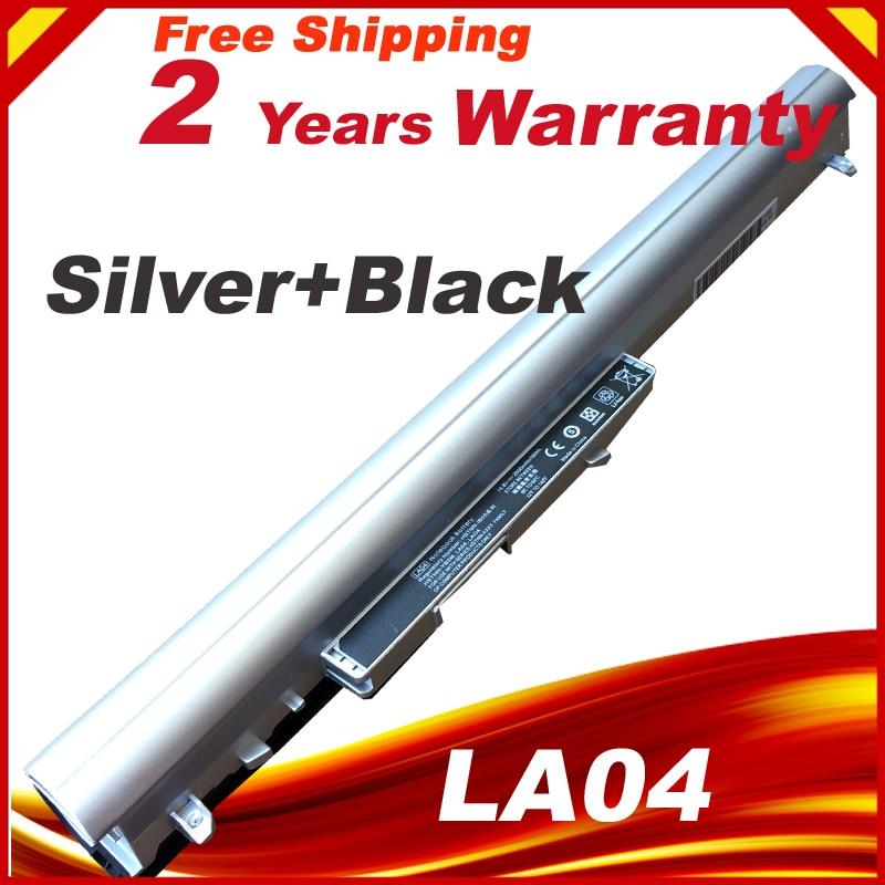 Silver Battery For HP LA04 LA04041 HSTNN-YB5M Pavilion TouchSmart 14 15 HSTNN-UB5M HSTNN-UB5N 728460-001 HSTNN-Y5BV HSTNN-DB5M