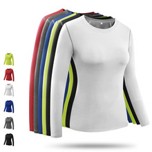Brand Yoga Shirt Women Sports Tights Long Slevess T-Shirts Quickly Drying Tops for Running Gym Fitness Wear Plus Size XXL G08