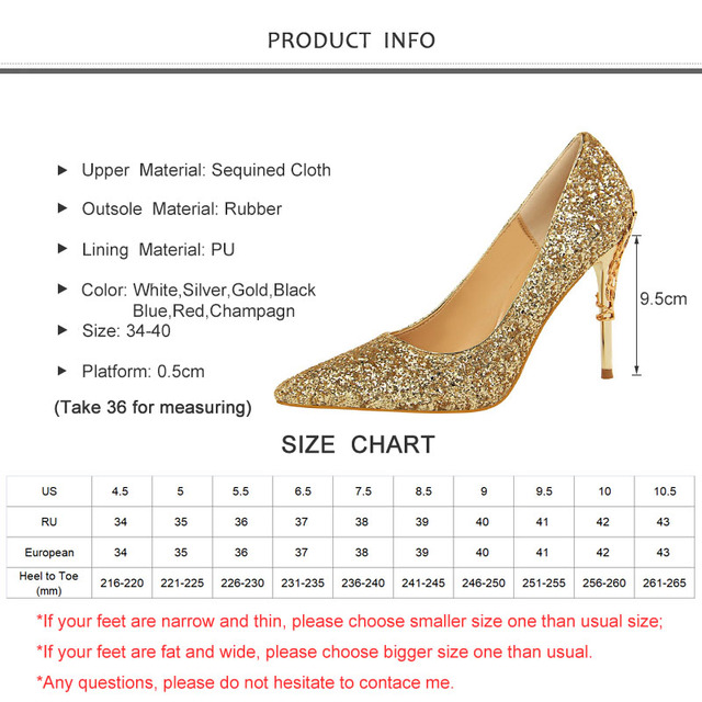 2019 New Spring Women Pumps High Thin Heels Pointed Toe Metal Decoration Sexy Bling Bridal Wedding Women Shoes Gold High Heels 5