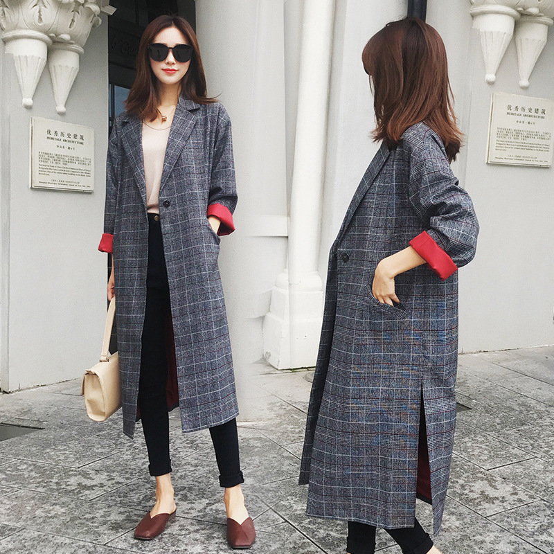 Fashion/ Leisure/ Spring And Autumn New Fashion Plaid Windshirt Coat