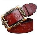 2016 new vintage belt for women genuine leather belts women  buckle strap female