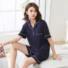 4xl-6xl  Pajamas Women Woman Sleep Wear Sleeping Suit Nightwear Plus Size 1071