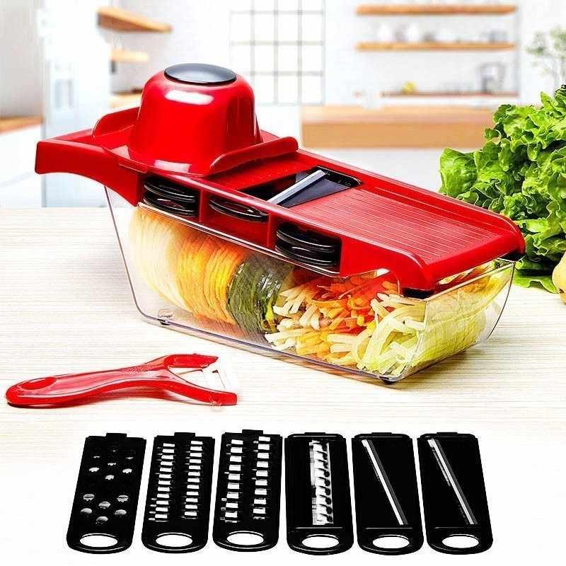 野菜カッター鋼の刃マンドリンスライサージャガイモの皮むき器ニンジンチーズおろし器野菜スライサーキッチンアクセサリーツール
