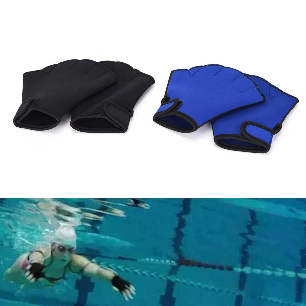 a9477682897 1 Pair Sphere Webbed Swim Gloves Surfing Swimming Sports Paddle Training  Fingerless Gloves Water Aerobics Aqua