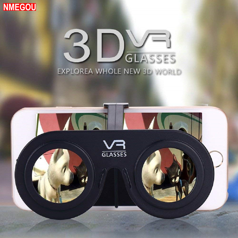 Mini Folding 3D Virtual Reality Cellphone Nearsighted Myopic <font><b>VR</b></font> <font><b>Glasses</b></font> for 3D Movies and Game for IOS Android Smartphone Mobile image