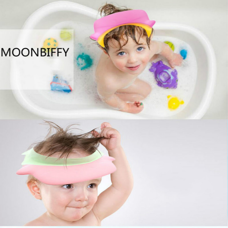Lot de 2/pcs B/éb/é Enfant Shampooing protection Bonnet de douche Bain Chapeau laver les cheveux Shampooing Shield