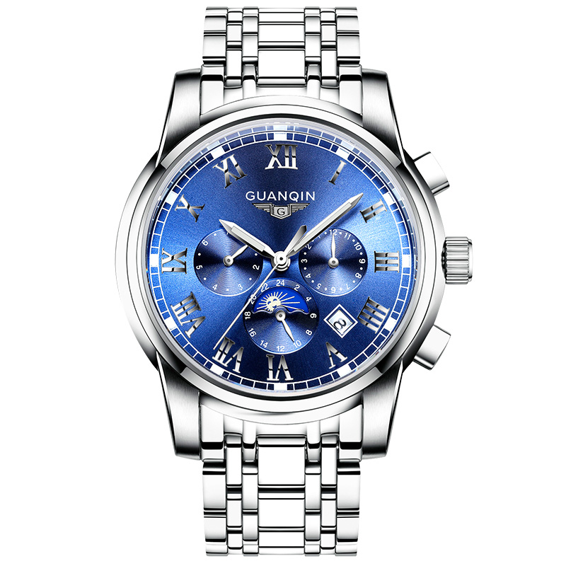 High quality mechanical watches GUANQIN Luxury business mens watches Multifunction automatic watch men Luminous hands WaterproofHigh quality mechanical watches GUANQIN Luxury business mens watches Multifunction automatic watch men Luminous hands Waterproof