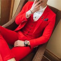 3PC Terno Masculino Korean Slim Fit Suit Men Clothes 2018 Business Formal Wear Dress Suits Plus Size Wedding Suits for Men 4XL S