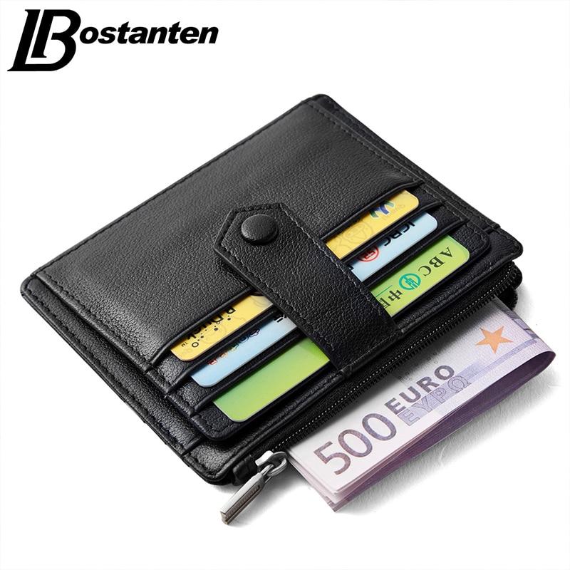 Aliexpress.com : Buy BOSTANTEN Genuine Leather Card Holder
