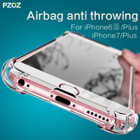 PZOZ For IPhone 7 Shockproof Back Cover Protective Silicone Shell Iphone7 Luxury Full Cover Cases For