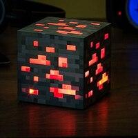 Minecraft Light Up Popular Game Redstone Ore Square Minecraft Night light LED Minecraft Figure Toys Light Up Diamond Ore Y001