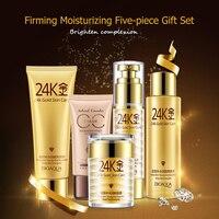 Bioaqua Cosmeticos Coreano 24 k זהב פנים קמטים אנטי אייג 'ינג קרם טיפוח פנים סט של קרמים לפנים