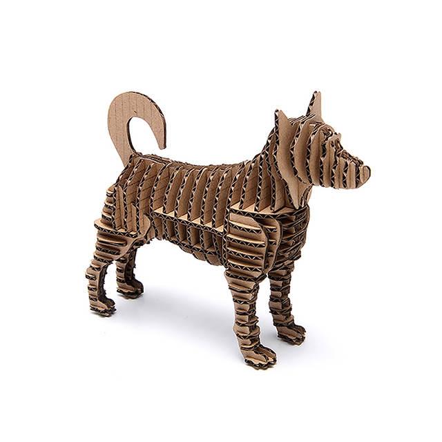 3d Puzzle Chien Papier Artisanat Chiot Modèle Animal Mignon Carton Papercraft Art Diy Jouets éducatifs Pour Enfants Unique Cadeaux Enfants