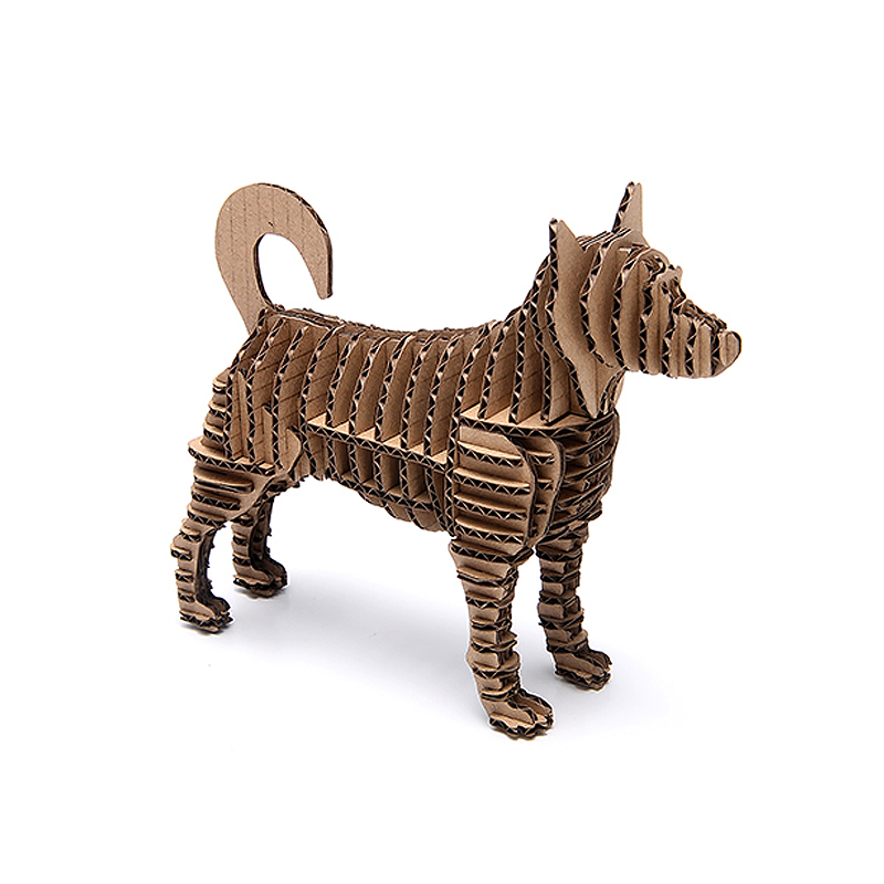 3d Puzzle Dog Paper Craft Puppy Model Cute Animal Cardboard