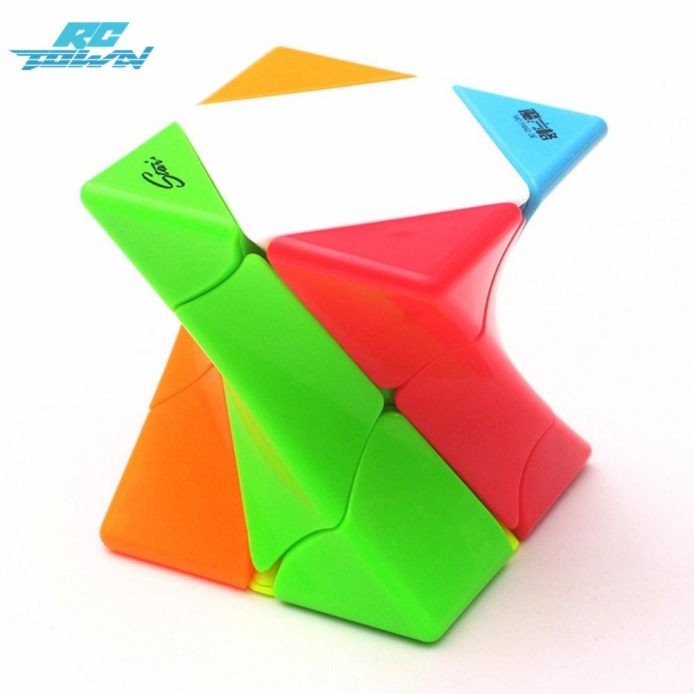 RCtown Twisted Diagonal Magic Cube Intellectual Development Speed Puzzle Cube Relief Stress Toy zk30