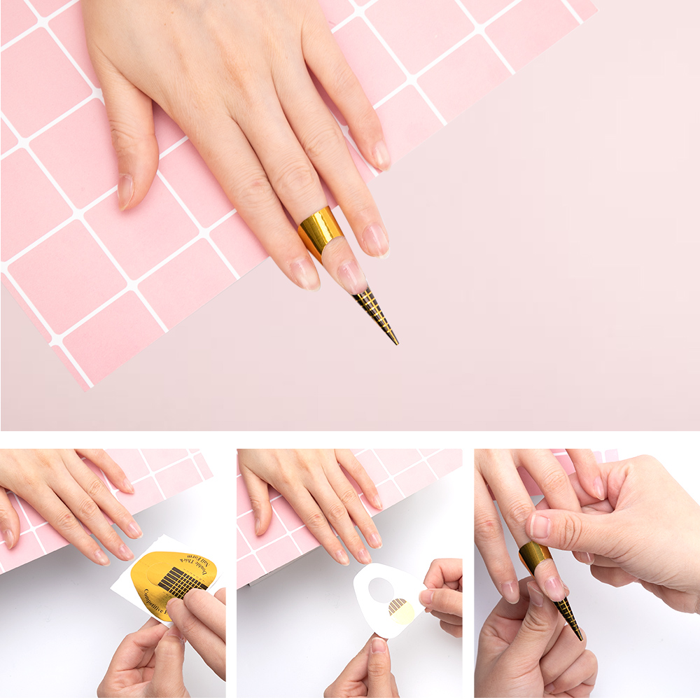 Dmoley 10/20/30/Nail Forms Professional Acrylic Curve Nails Gel ...