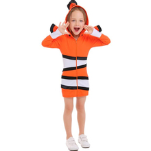 Child Cozy Orange Clown Fish Finding Nemo Sea Theme Party Halloween Cosplay Kids Performance Costumes