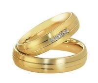 Пользовательские желтый позолота здоровья titanium золота его и ее пары колец комплекты для свадьбы