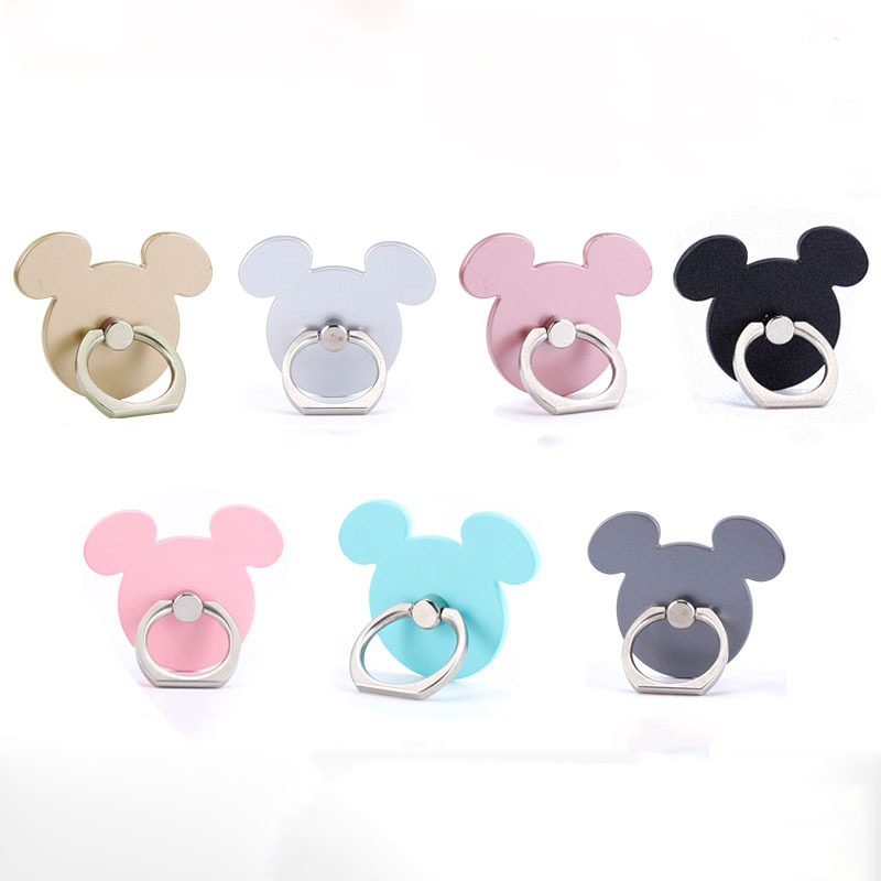 Mobile Smartphone Cartoon Mickey Phone Socket Holder Lazy Phone Holder 360 Degree Finger Ring Smart Phone Support Stand SMSNXY