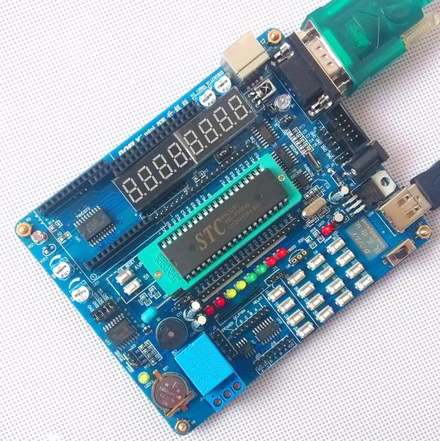 Free shipping mini80e 51 microcontroller development board almighty learning board