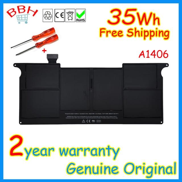 """Bateria a1406 bateria genuine original para apple macbook air 11 """"Mid A1370 A1465 2011 2012 baterias A1495 35WH A1406 7.3 V NOVO"""