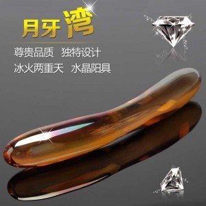 Hot sale sex products Bay glass dildo for women Crystal penis adult sex toys for woman vagina