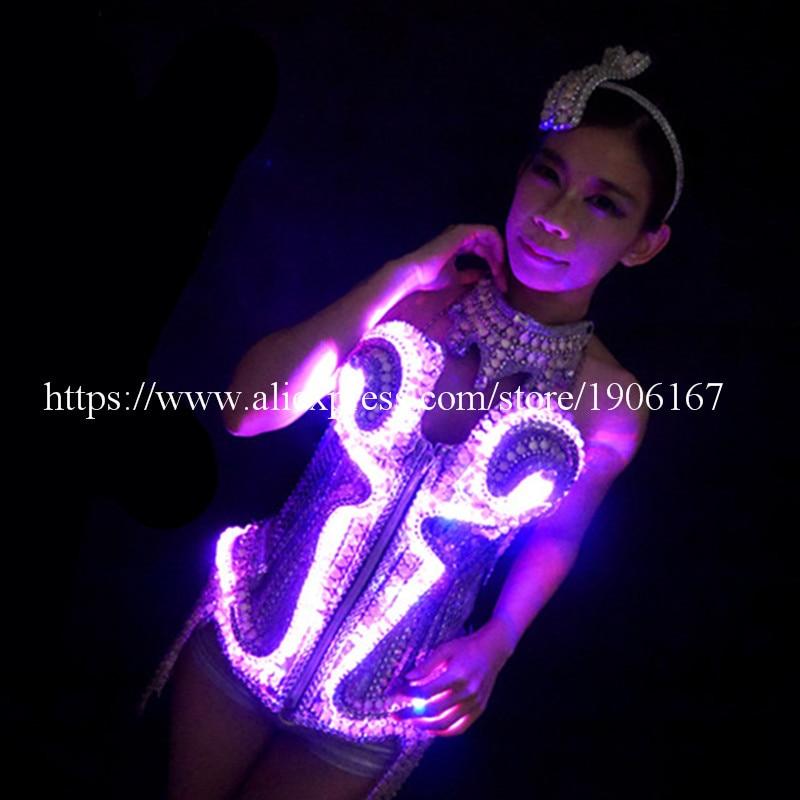 Dizajni i ri Led Luminous Vest Bra Belt rripin e rrobave Ballroom, - Furnizimet e partisë - Foto 4