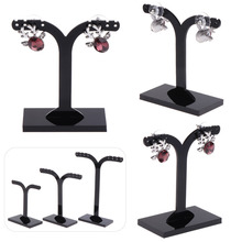 1 Set 3 Size Acrylic Earrings Display Shelf Stand Holder Jewelry Organizer Rack