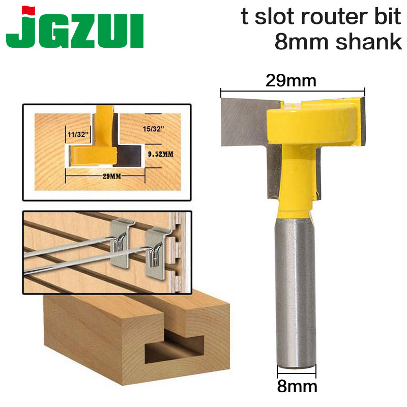 1pcs Top Quality T-Slot & T-Track Slotting Router Bit - 8 8'' Shank For Woodworking Chisel Cutter Wholesale Price 1pcs 1 4 8mm 1 2 shank top quality t slot & t track slotting router bit for woodworking chisel cutter wholesale price