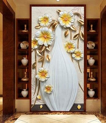 Dimensional Relief Glass Sliding Door Wardrobe Kitchen Foil Stickers Entrance Living Room Bedroom Background