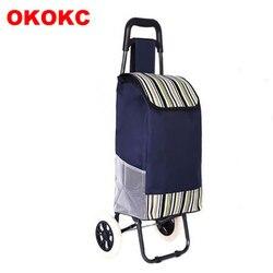 OKOKC Einkaufen Gepäck Warenkorb Klapp Hand Wagen Trolley Warenkorb 2 Wheel Shopping Anhänger Reise Zubehör