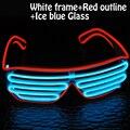 2017 Factory direct selling El Fio de luz duplo flash Shutter Shaped branco EL óculos eyeswear para festival festa de natal