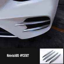 ABS Chrome Front Fog Lamp Cover Trim Accessories Set of 4pcs For Mercedes Benz E Class W213 2016 2017 2018 2019 free shipping brand new a set of chrome front fog light cover round type for mercedes benz w164 ml class 06 08