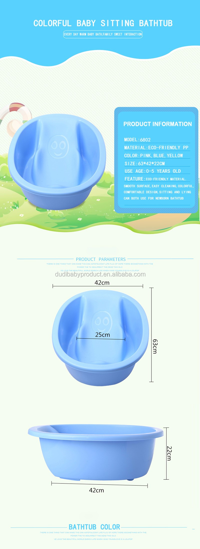 Colorful Plastic Mini Bath Tub For Newborn Baby-in Baby Tubs from ...