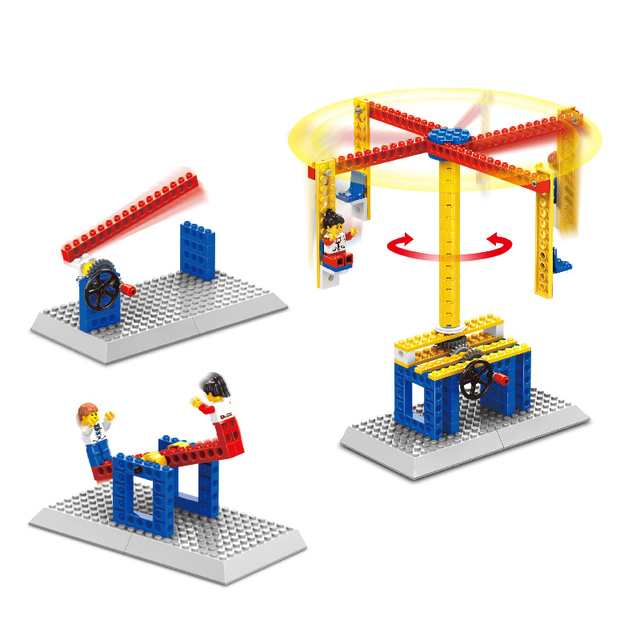 STEM Toys for Children Model Building Kits Blocks Toy Learning Education Machines Loader Car Blocks Puzzle Painted Kids Toys