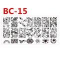 1 pcs Beleza Senhora Menina Flores de Projetos para Decoração Nail Art Polonês Placas 12x6 cm Modelos Da Arte Do Prego estampagem Prego Acessório BC-15
