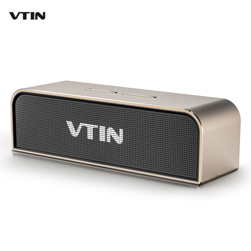 ФОТО VTIN Royaler Stereo Wireless Bluetooth Speaker 4.0 Aluminum Housing Speakers 2x10W with Passive Radiator Deep Bass with Mic