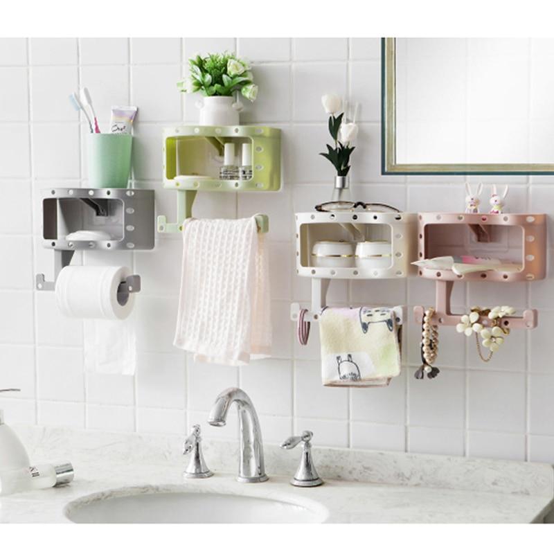Լոգարանի սրբիչի կրող, ձևի պլաստիկ - Պահեստավորման եւ կազմակերպումը ի տան