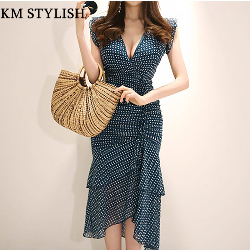 0353bbe071df Dress-Female -Summer-2018-New-Korean-Temperament-Asymmetrical-V-neck-Sleeveless-Chiffon-Print-Long-Slim-Ruffles.jpg