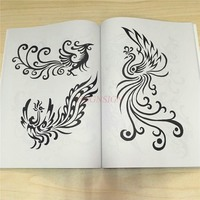 Chinese Totem Tattoo Book Manuscript Pattern Atlas Album Practical Small Embroidered Drawing Material Equipment Supplies Tatoo