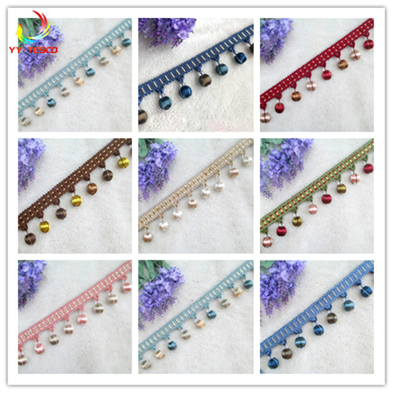 10Yards Lace Tassel Fringe Cotton Ethnic 4.5cm Lace Trim Ribbon Sewing Latin Dress Stage Garment Curtain Decorative DIY  SM380-in Tassel Fringe from Home & Garden    1