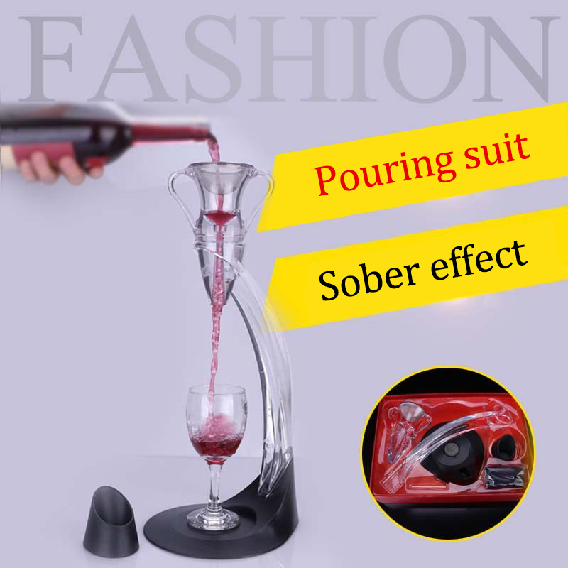 1 Set Red Wine Aerator Acrylic Magic Jigger Quick Awakeners Drink Dispenser Aerating Wine Glass Decanter Wine Accessories in Decanters from Home Garden