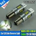 2 xSuper brillante CANBUS BAX9S H6W 50 W 10-SMD LED con Lente Side Luz de Estacionamiento Luces de Bulbos Del Coche LED Bombillas de Luz Blanca MARRINE 10-30VAC