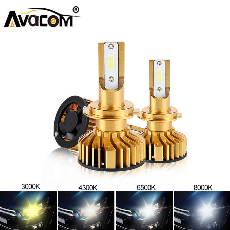 2Pcs H4 LED H7 H11 H8 9006 HB4 H1 H3 HB3 H9 9012 Car Headlight Bulb LED Lamp 10000LM Auto Fog Lights 6000K 3000K 4300K 8000K 12V