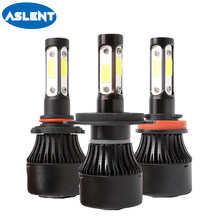 Aslent H4 LED H7 H8 H11 H13 9004 9005 9006 9007 HB4 100W 12000LM 6500K COB LED Car Headlight Front Fog Light Auto Headlamp(China)