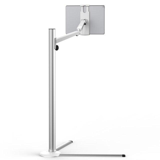 עמדת רצפת לוח אלומיניום גובה מתכוונן נייד טלפון מיטת ספה מחזיק זרוע סיבוב עבור iPhone X iPad פרו אוויר מיני 7 13 אינץ