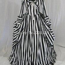 Новейшее платье Катрина, сонное, полое, в стиле колонии, полонез, в полоску, готическое, викторианское, платье в полоску, костюм средневекового периода